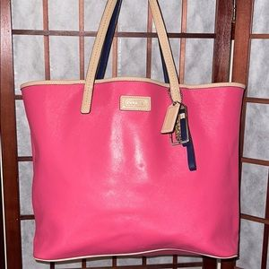 Coach Large Metro Salmon Pink Tote Shoppers Purse